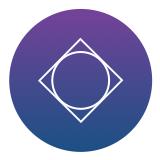 logo in purple circle